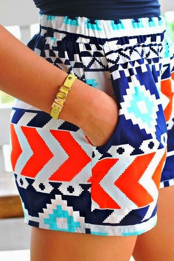 Elastic Colorful Shorts For Summers