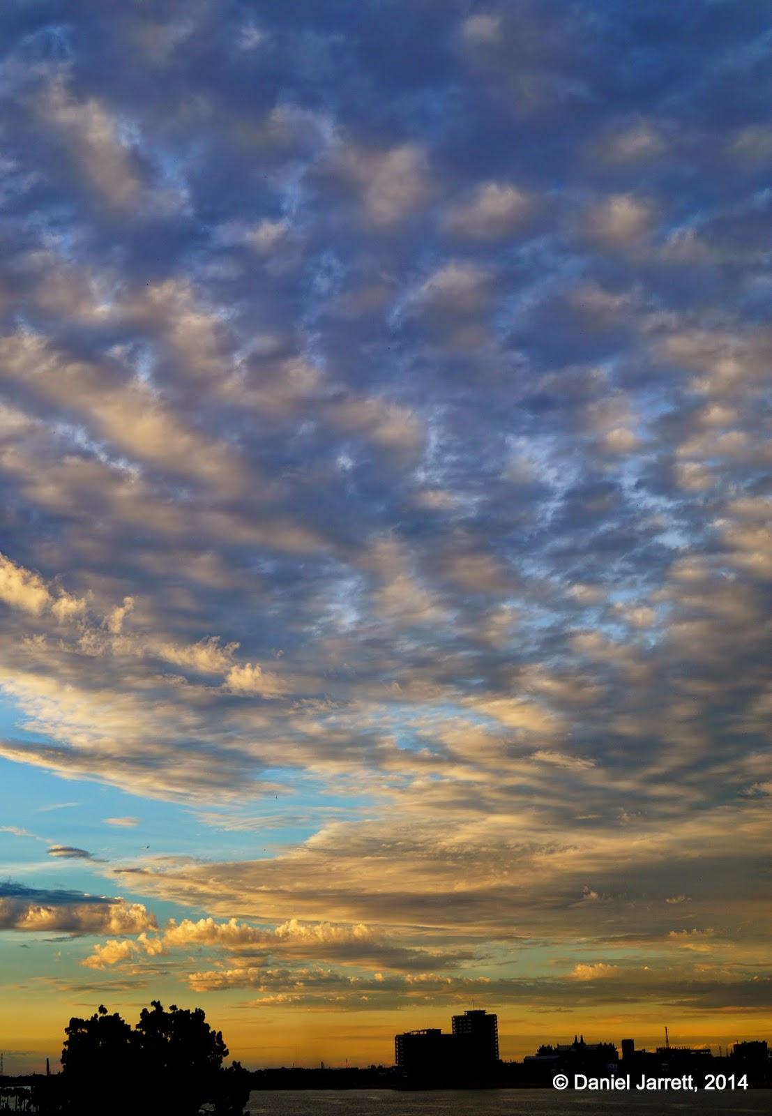 Sunset sky, Phnom Penh, Cambodia