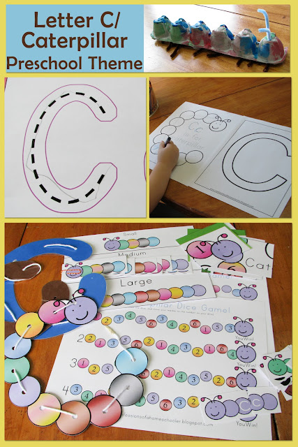 mommy u0026 39 s little helper  letter c  caterpillar preschool theme