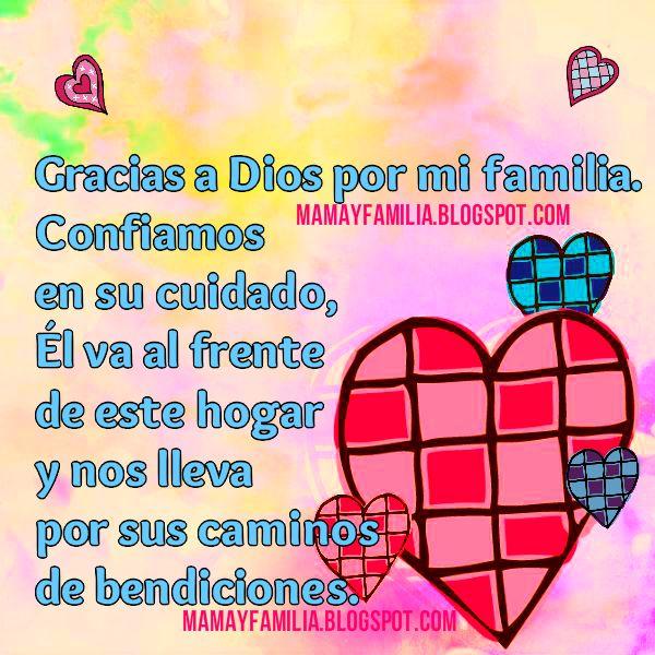 Palabras de Gracias a Dios por la familia, Bendiciones en familia, imágenes con bendición del hogar