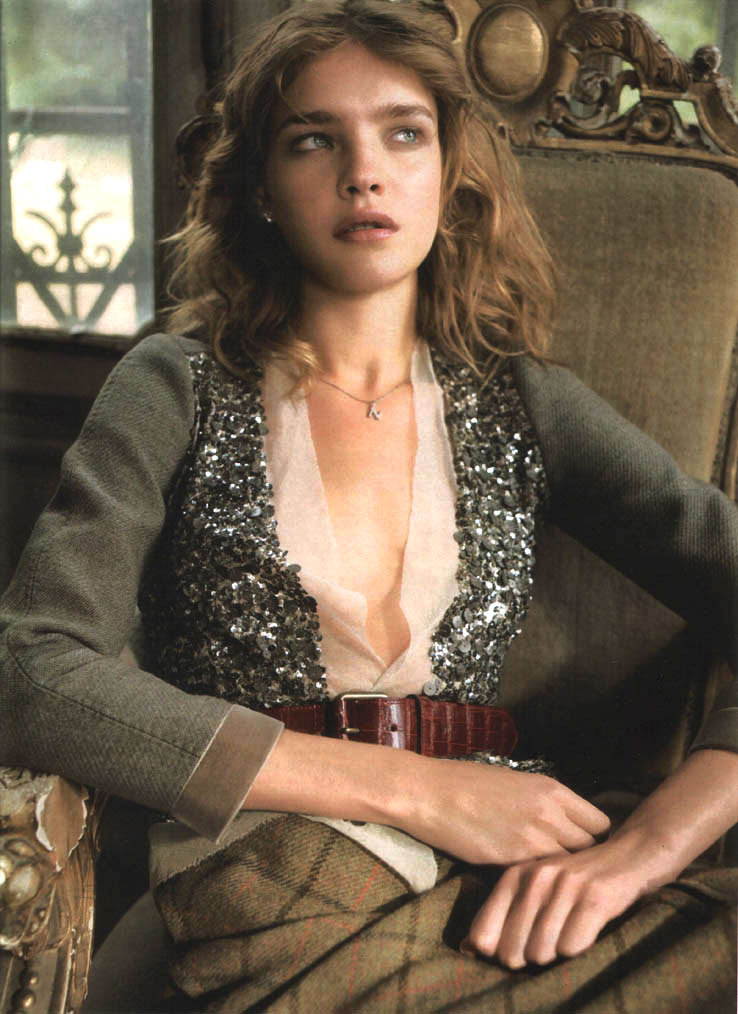 Natalia Vodianova in Elle France Special Mode September 2004 (photography: Jean-Baptise Mondino)