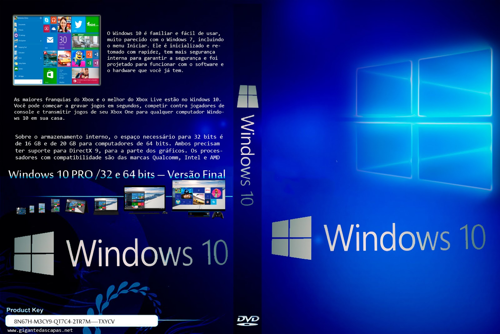 Download Windows 10 Pro x86/x64 PT-BR Windows 2B10