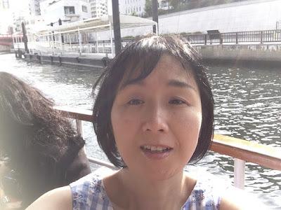 浅草寺近くの船乗り場から隅田川遊覧船にの写真