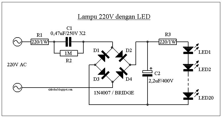 Блок питания для светодиодной лампы своими руками схема 11