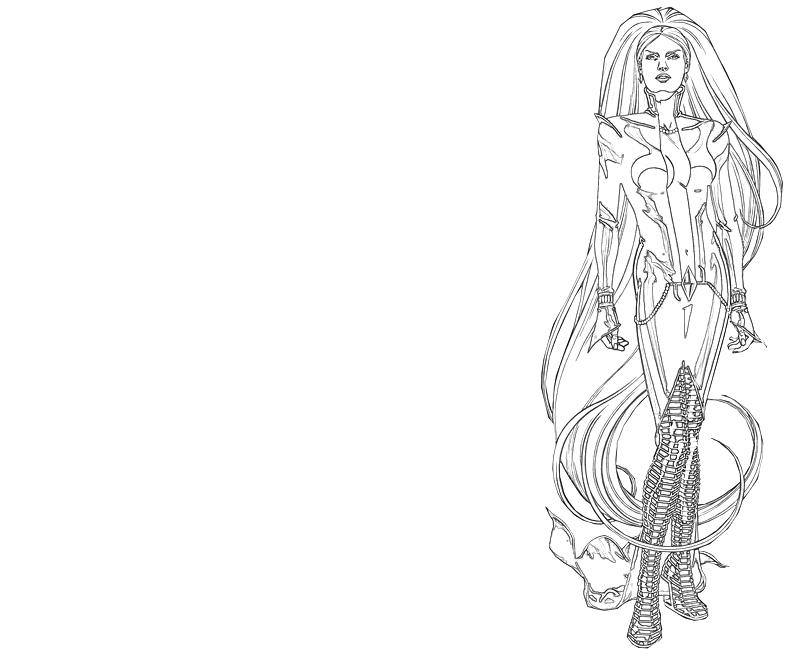 Medusa look lowland seed for Medusa coloring page