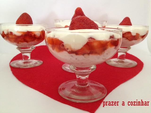 prazer a cozinhar - sobremesa de morangos