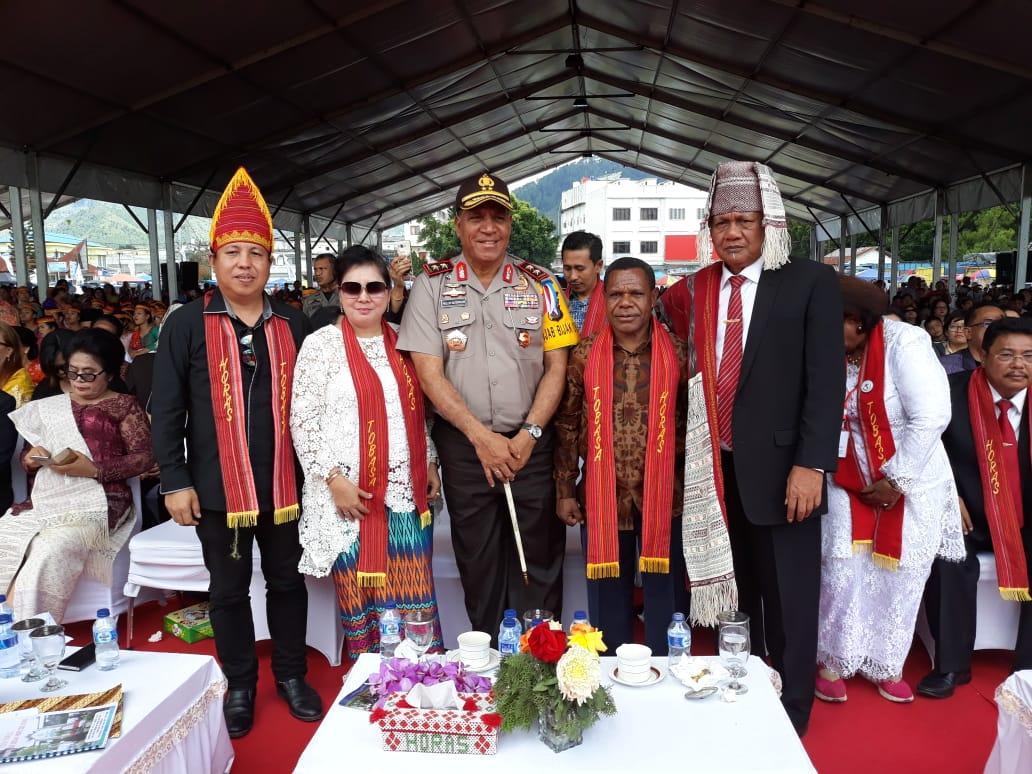 Tema Karya Terbesar,Jajaran Poldasu Hadiri Perayaan Paskah Nasional di Tobasa