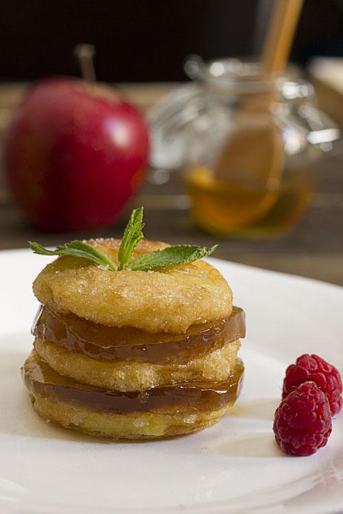 Manzanas doradas con gelatina de miel. Reto tia Alia