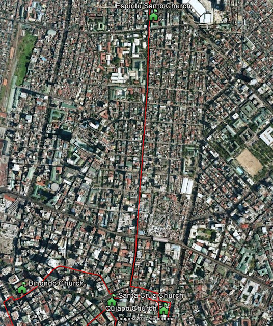 Filipinos for Life Pilgrimage Route from Blumentritt to Binondo
