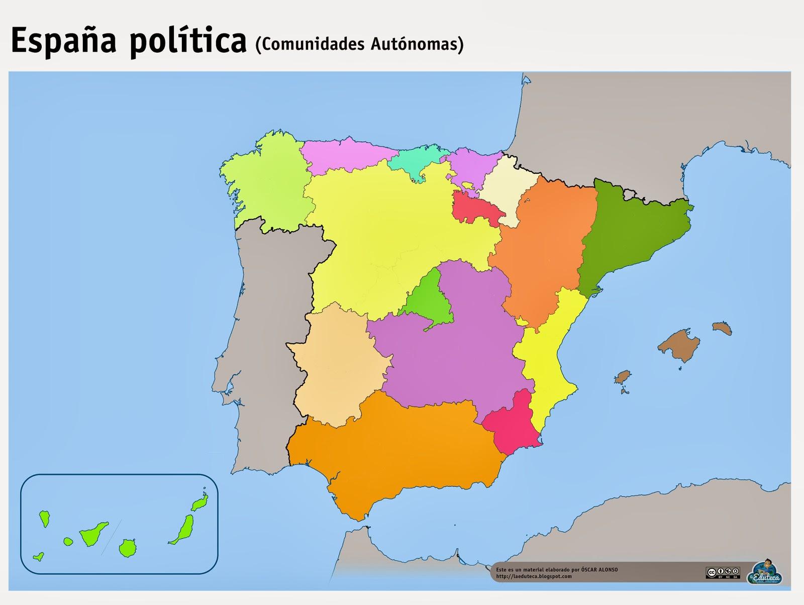 RECURSOS  Mapas mudos Espaa  La Eduteca