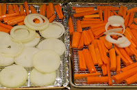 Carrots and Onions before Roasting