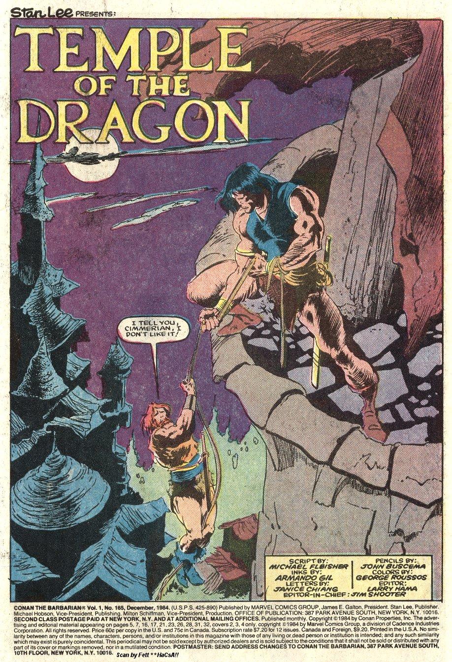 Conan the Barbarian (1970) Issue #165 #177 - English 2