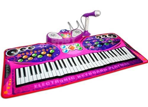 alfombra musical piano princesas mp microfono
