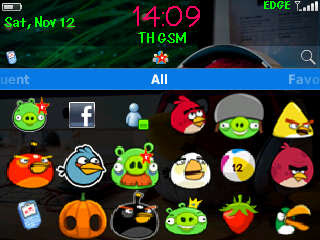 Tema Blackberry Kartun Angry Birds
