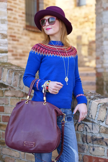 Marc by Marc Jacobs too hot to handle tote, fair isle jumper, Ecua-Andino hat, Fashion and Cookies, fashion blogger