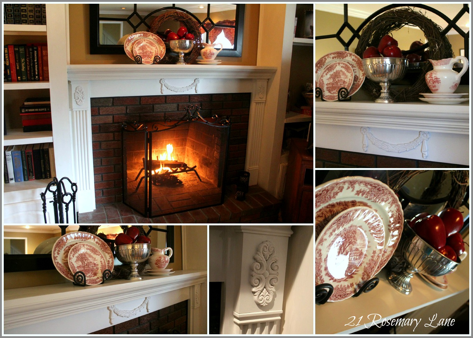 21 rosemary lane our new fireplace mantel thank you mr