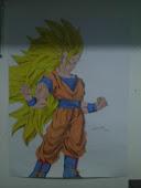Meu desenho do Goku SSJ 3