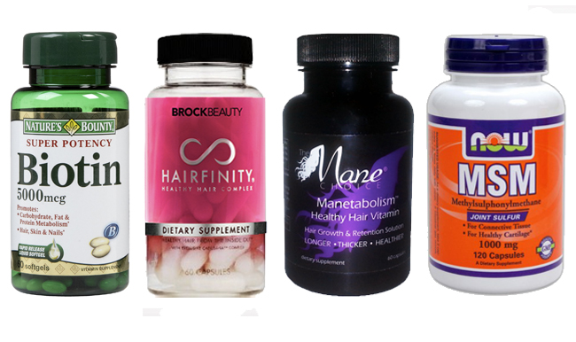 Different hair growth vitamins