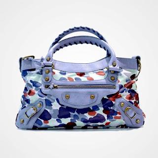 """Balenciaga Printed Nylon """"First"""" Bag"""