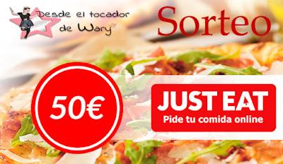 Sorteo 50€ en just eat