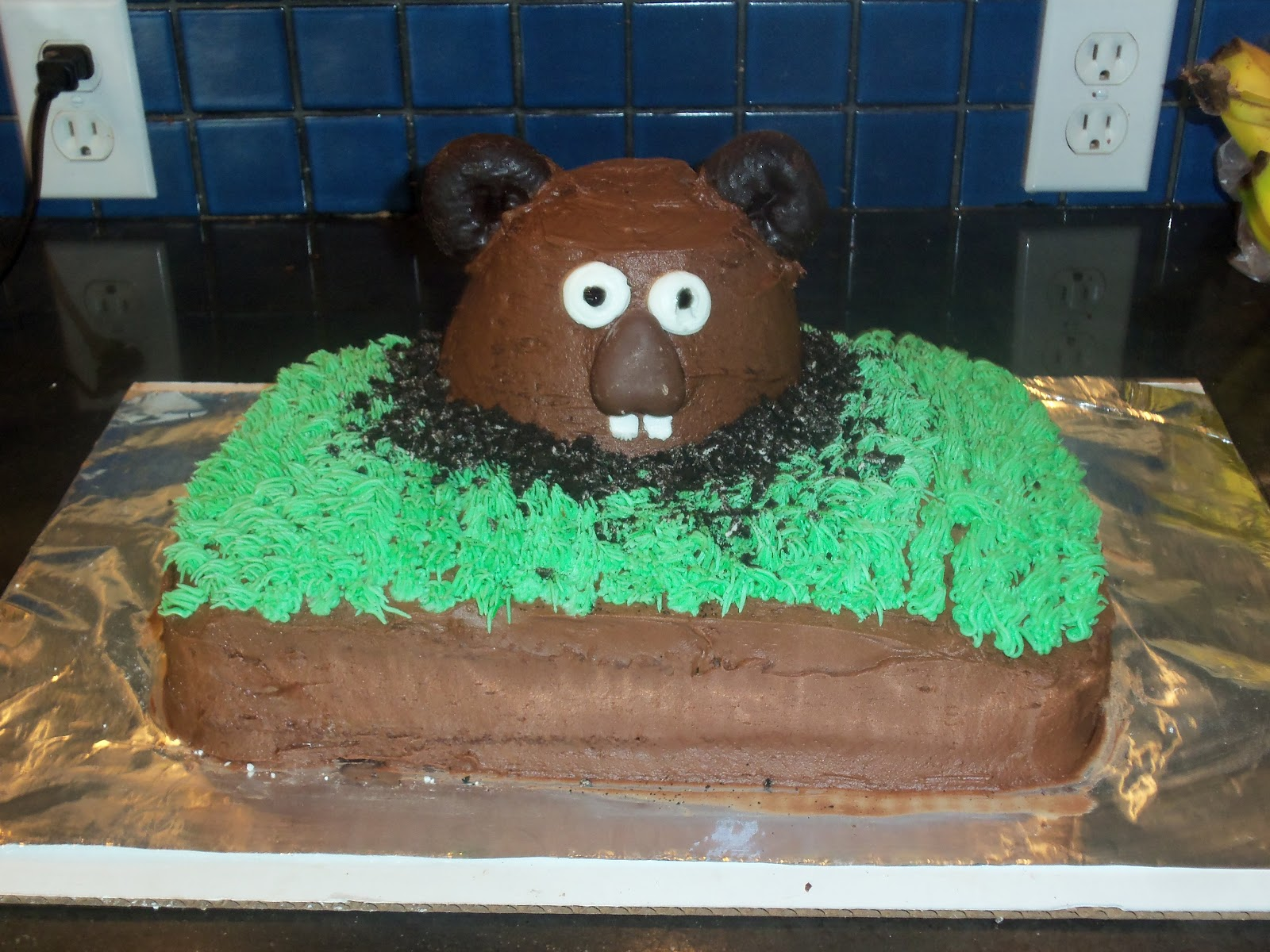 happy groundhogs day this is a chocolate cake with and oreo cream ...