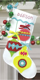 Bright Ornaments Felt Christmas Stocking Kit