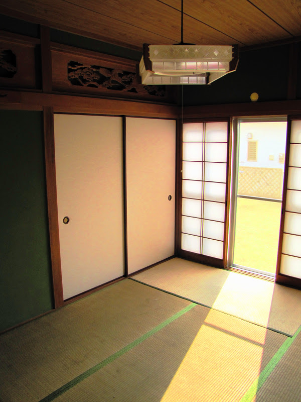 Japanese Room With Carvings of Cranes