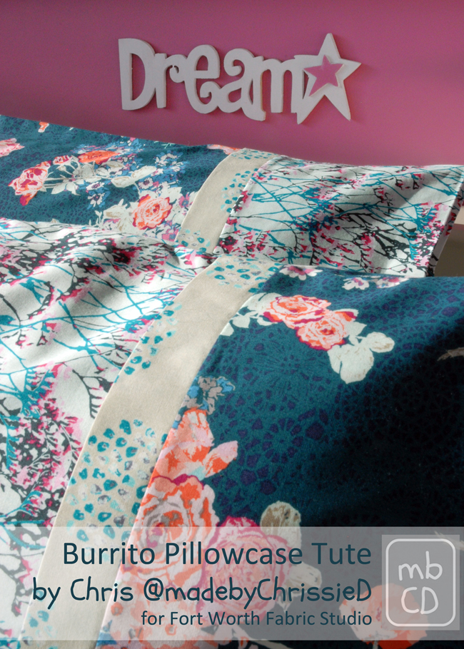 ... share this awesome pillowcase tutorial with us! I have made these pillowcases before and they are seriously the best! If you haven\u0027t made one before ... & Fort Worth Fabric Studio: Burrito Pillowcase Tutorial pillowsntoast.com