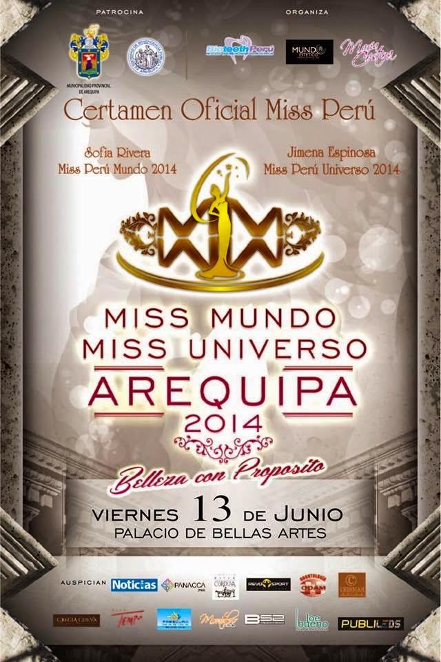 Miss Mundo y Miss Universo Arequipa 2014 - 13 de junio