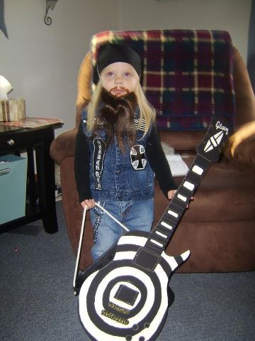 zakk wylde costume for kids. awesome