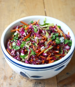 Asian coleslaw recipes with spices and herbs