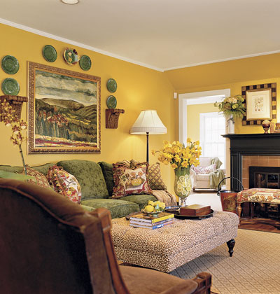 Yellow idea increasing the performancea of the living room for Yellow living room designs