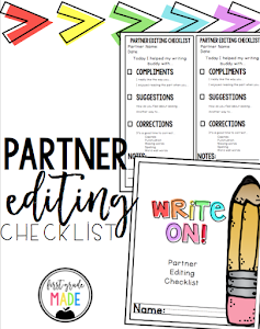 Writer's Workshop Partner Editing Checklist