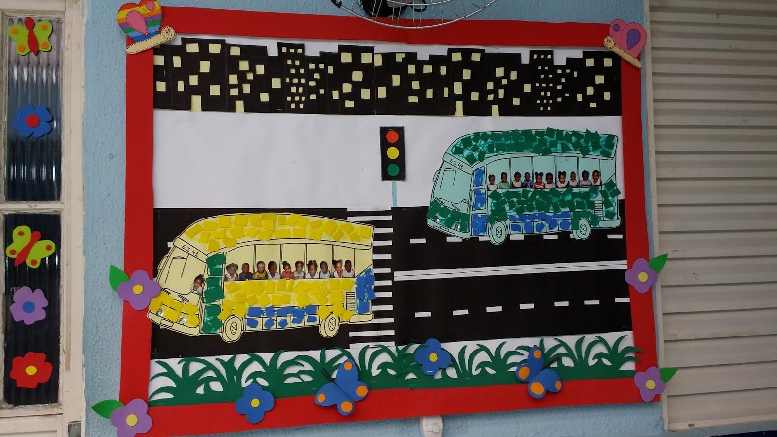 Creche municipal emmanuel murais dos meios de transporte for Mural sobre o transito