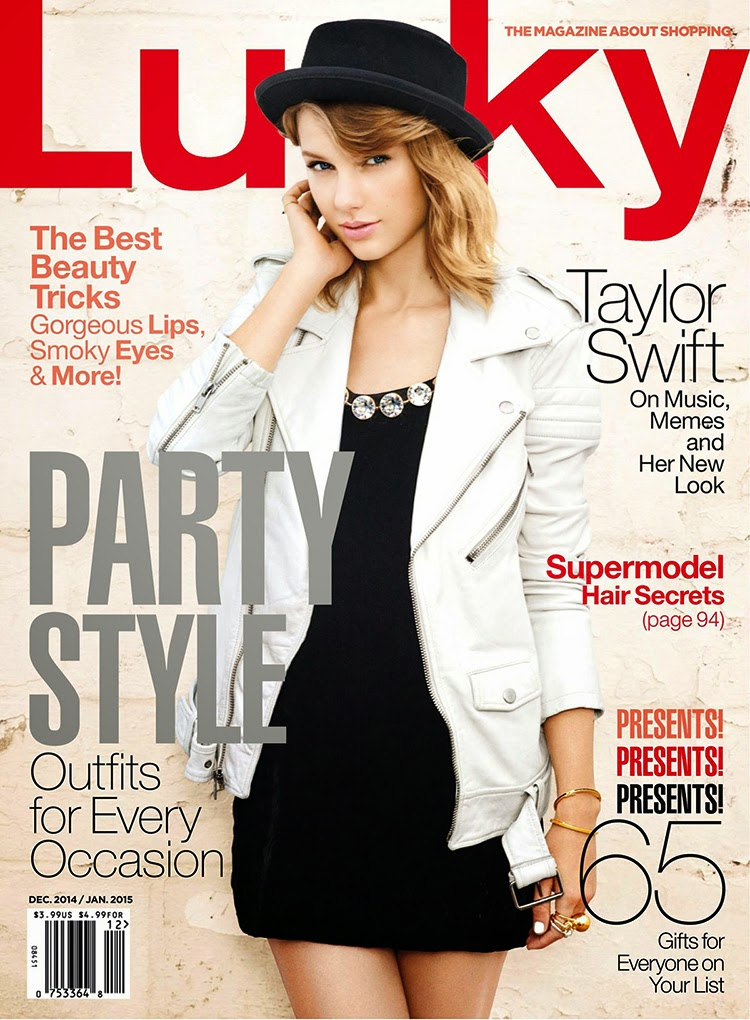 Taylor Swift covers Lucky Magazine December 2014