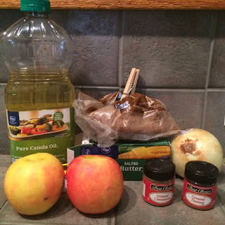 Necessary ingredients for apple spice pork chops