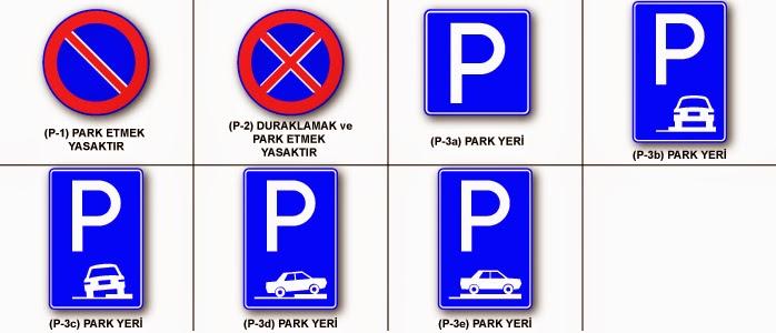 Durma ve park etme işaretleri