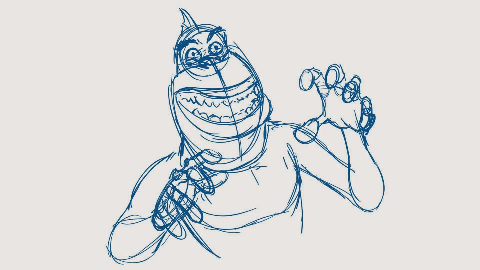 cartoon concept design screenshot sketchbook monsters vs aliens