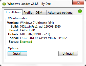 Windows 7 Daz Loader v2.1.5