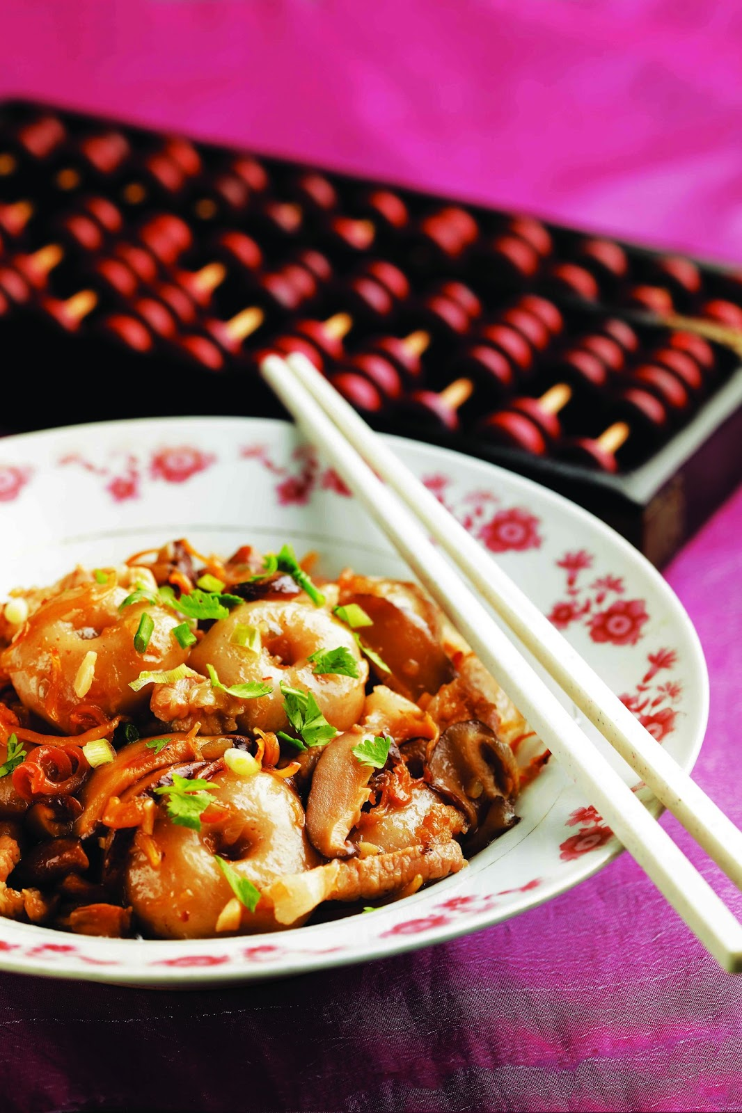 Abacus beads recipe for Abacus cuisine of china