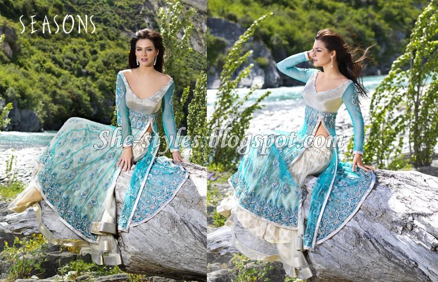 Seasons Designer Wear Party Wear Saris