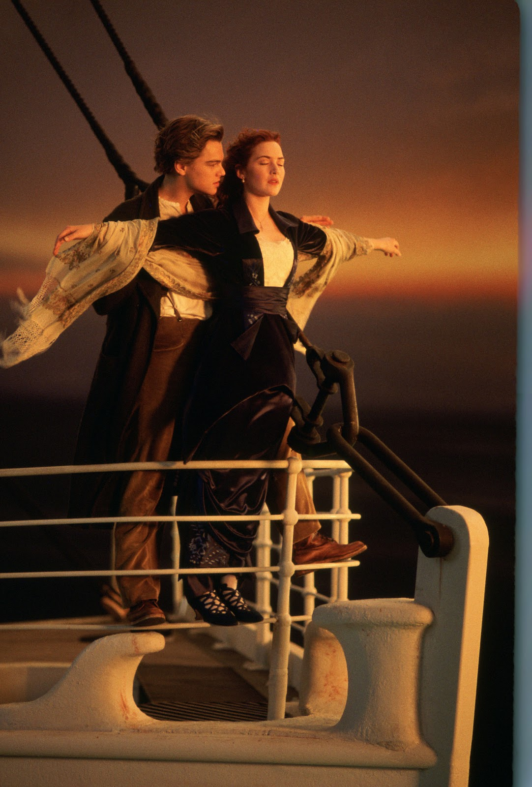 Kate Winslet Titanic Painting Scene Leo dicaprio and kate winslet