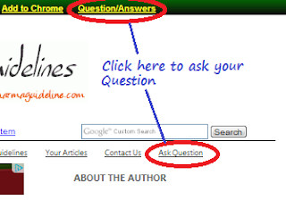 Ask Question Screen Shot