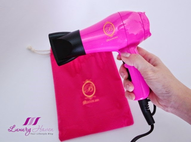 immortelle atelier pretty pink blowphoria mini hair dryer