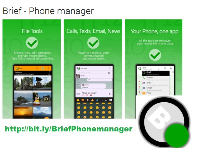 Brief Phone manager
