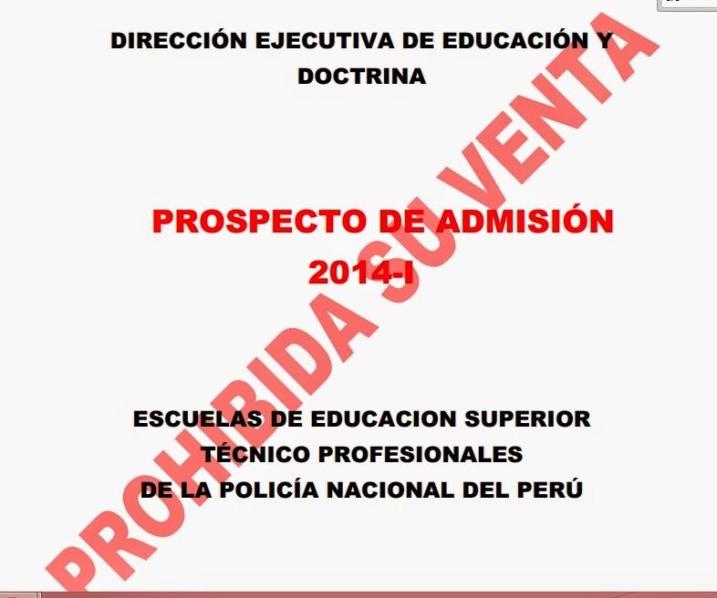 pnp prospecto de admisión 2014 i escuelas técnico superiores de la ...