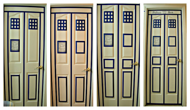 It was easy quick and definitely gives the general feel of the police box doors. There is one spot on the door where the ... & Day by Day: Doctor Who Blog Party | My TARDIS Door