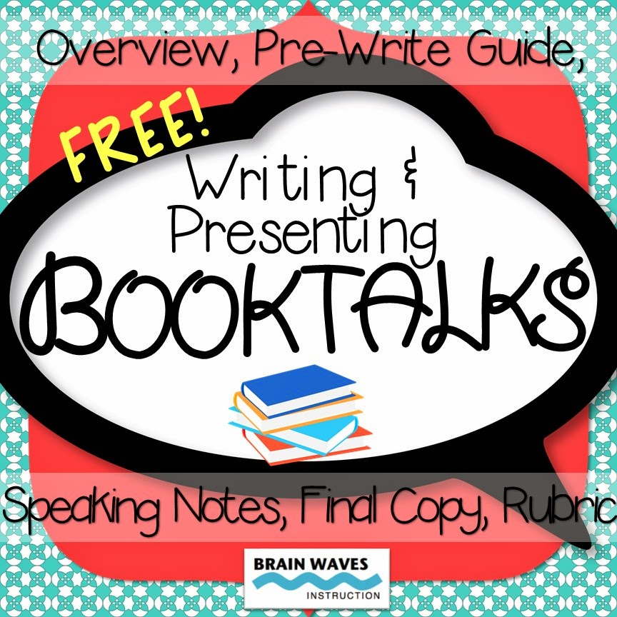 writing and presenting booktalks, book talk, brain waves instruction