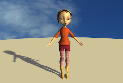 3D Character, by Magalie Paquet © All right reserved