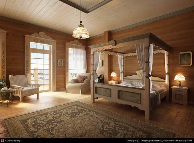 Country House Bedroom by Oleg Popaduchenko